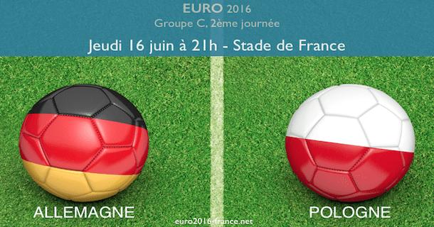 Allemagne-Pologne, 2ème journée de l'Euro dans le groupe C
