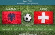 Pronostic du match Albanie-Suisse comptant pour la première journée du Groupe A de l'Euro 2016