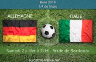 Meilleures cotes et pronostic du match Allemagne-Italie, quart de finale de l'Euro 2016 - le 02 juillet à 21h à Bordeaux
