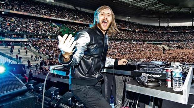 David Guetta au stade de France pour la cérémonie d'ouverture de l'Euro le 10 juin