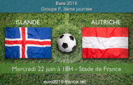 Pronostic du match Islande-Autriche pour la dernière journée du groupe F de l'Euro, le 22/06 au Stade de France