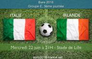 Meilleures cotes et pronostic pour Italie-Irlande, dernier match du Groupe E de l'Euro 2016 le 22 juin à Lille