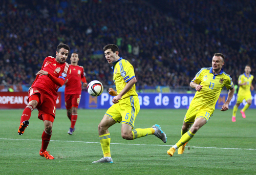 Taras Stepanenko, milieu de l'équipe de l'équipe d'Ukraine