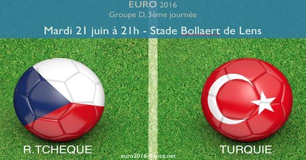 Le match République tchèque-Turquie de l'Euro sera joué à Lens