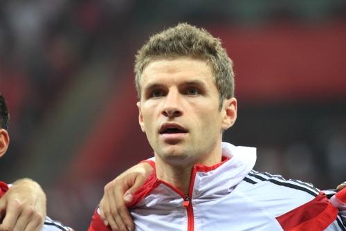 L'attaquant de pointe de l'Allemagne Thomas Müller