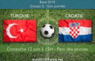 Analyse, pronostic et meilleures cotes du match Turquie-Croatie, 1re journée du groupe D de l'Euro 2016