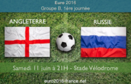 Meilleures cotes et pronostic du match Angleterre-Russie, 1ère journée du groupe B de l'Euro 2016