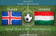 Meilleures cotes et pronostic du match Islande-Hongrie, 2ème match du groupe F de l'Euro 2016