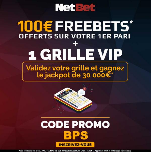 Bonus et code promotionnel NetBet