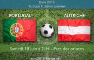 Analyse et pronostic du match Portugal-Autriche, 2ème journée du groupe F de l'Euro 2016 à 21h