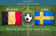 Meilleures cotes et pronostic de Suède-Belgique, 3ème journée du groupe E de l'Euro 2016
