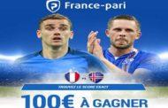 Concours en association avec France Pari : Quel sera le score exact de France/Islande? 100€ à la clé