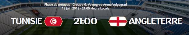 Notre pronostic pour le match entre la Tunisie et l'Angleterre lors de la 1ère journée du groupe G