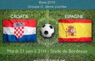 Notre pronostic du match Croatie-Espagne le 21 juin à 21H pour le 3ème match du groupe D de l'Euro 2016