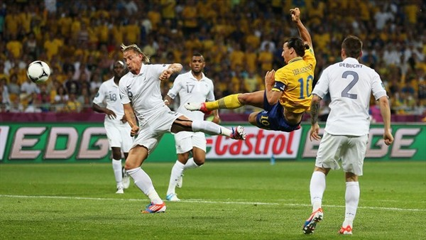 ibrahimovic but france euro 2012