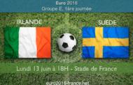 Notre pronostic et les meilleures cotes du match Irlande-Suède dans le groupe E qui se jouera le 13 juin à 18h