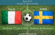 Meilleures cotes et pronostic d'Italie-Suède, match comptant pour la 2ème journée du groupe E de l'Euro 2016