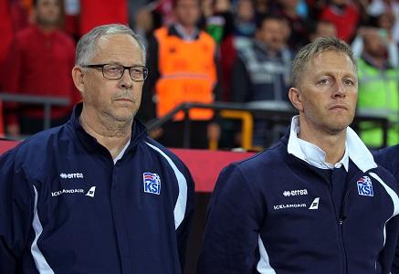 Lars Lagerbäck et Heimir Hallgrimsson, le duo de sélectionneurs de l'Islande