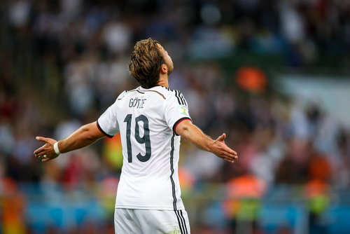 Mario Götze a occupé le front de l'attaque dans l'équipe d'Allemagne