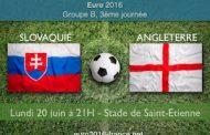 Pronostic pour Slovaquie-Angleterre dans le groupe B qui se jouera le 20 juin à Saint-Étienne