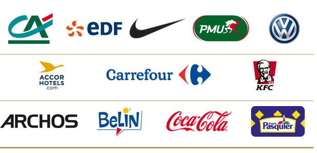 Les sponsors de l'équipe de France