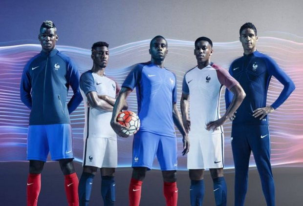 Kit officiel de l'équipe de France de football à l'Euro 2016