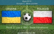 Pronostic du match Ukraine-Pologne pour la 3ème journée du groupe C de l'Euro 2016, le 21/06 à Marseille